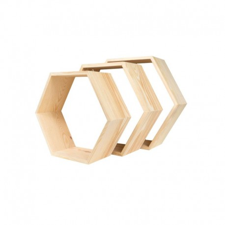 Półki heksagon 3 w 1