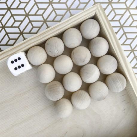 Chińczyk gra planszowa z naturalnego drewna
