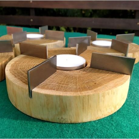 Podgrzewacz tealight z drewna dębowego