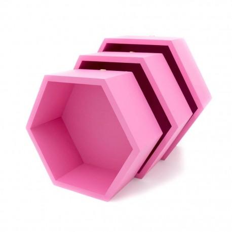 Pólki hexagon 3w1 KWIAT WIŚNI z pleckami