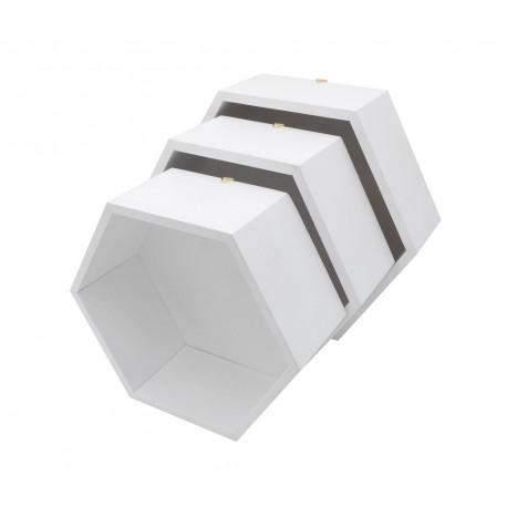Pólki hexagon 3w1 Biała