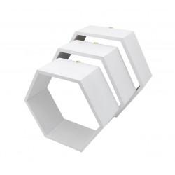 Pólki hexagon 3w1 BIAŁA bez plecków