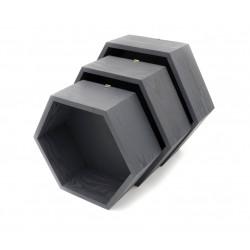 Pólki hexagon 3w1 CZARNE z pleckami