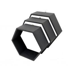 Pólki hexagon 3w1 CZARNE bez plecków