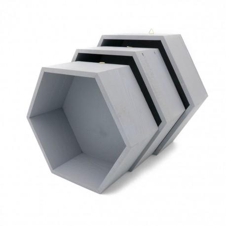 Pólki hexagon 3w1 Szare z pleckami