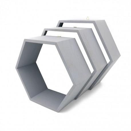 Pólki hexagon 3w1 Szare