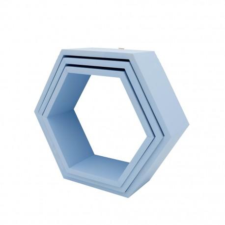 Półki plaster miodu heksagon 3 w 1 CMURKA NA NIEBIE